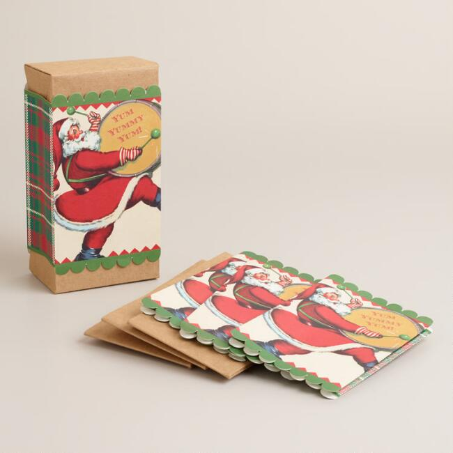 Vintage-Style Santa Claus Craft Boxes, 4-Pack