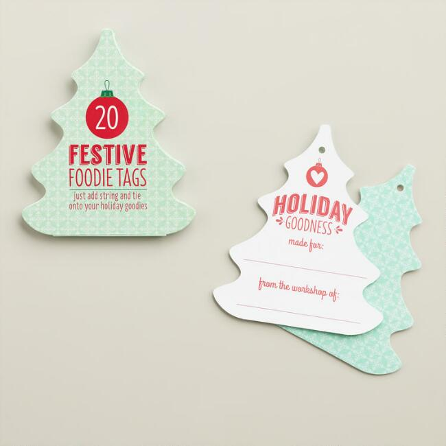Holiday Tree Treat Tags, 20-Count