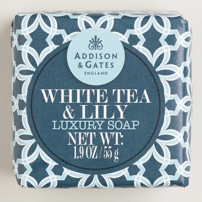 A&G Mini White Tea & Lily Soap, Set of 4