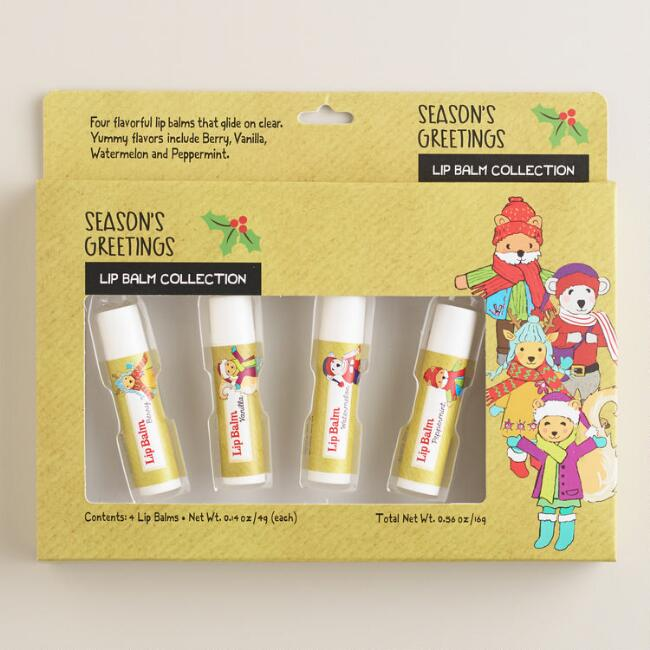 Season's Greetings Lip Balms, 4-Pack