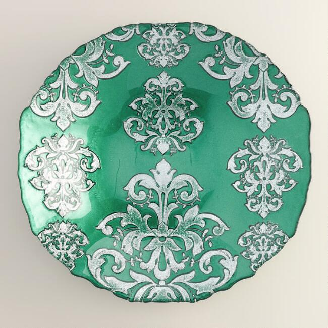 Green Buon Natale Serving Bowl