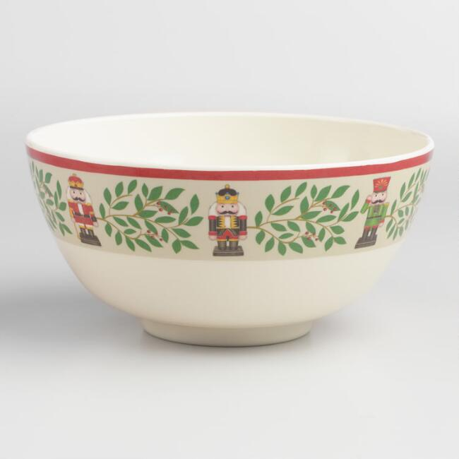 Holiday Nutcracker Melamine Bowls Set of 4