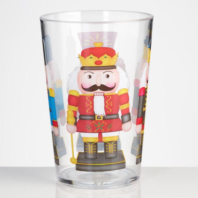 Holiday Nutcracker Melamine Tumblers Set of 4
