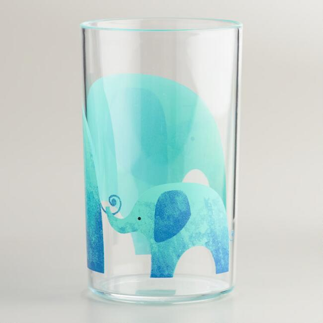 Acrylic Elephant Tumbler, Set of 4