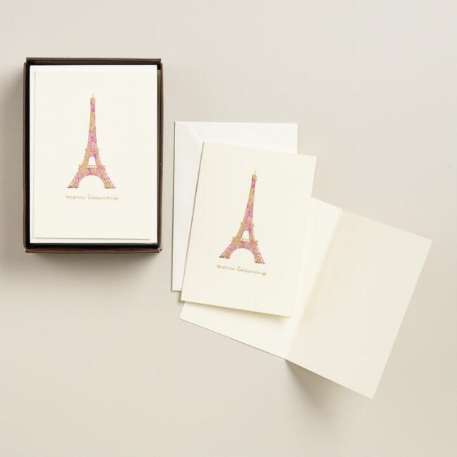 Le Petite Merci Beaucoup Notecards, Set of 10