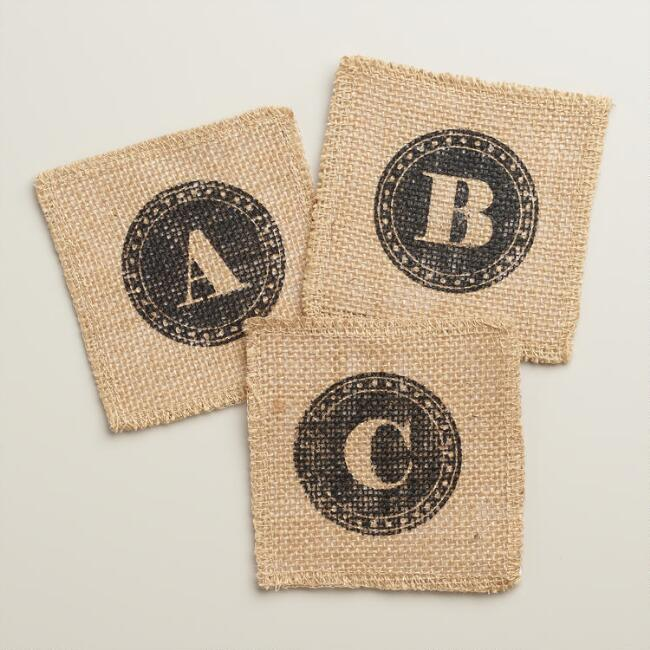 Monogram Jute Coaster Collection