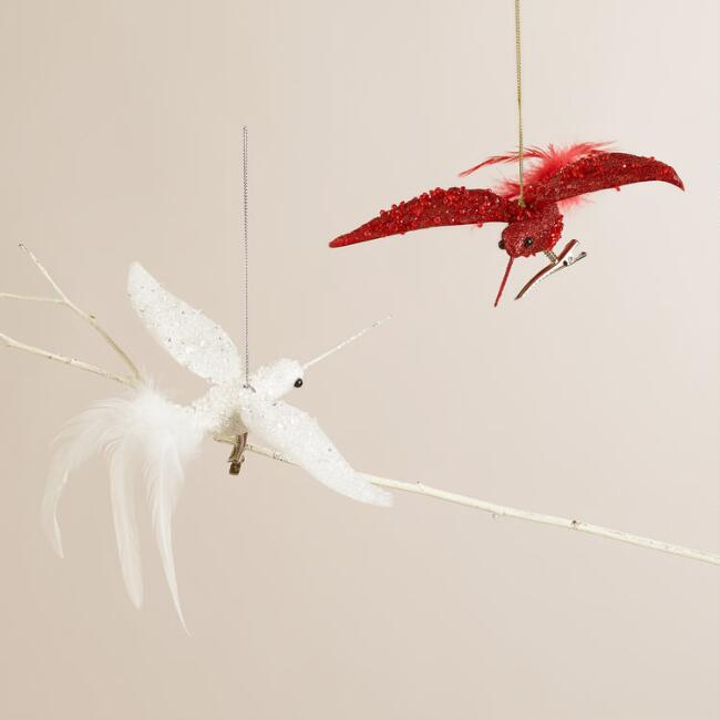 Hummingbird Ornaments, Set of 2