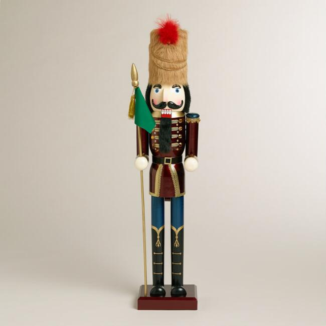 Red Extra-Large Traditional Nutcracker