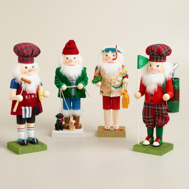 Santa  Nutcrackers, Set of 4