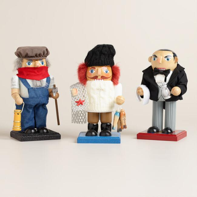 United Kingdom Chubby Nutcrackers -Set of 3
