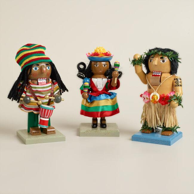 Tropical Chubby Nutcrackers, Set of 3