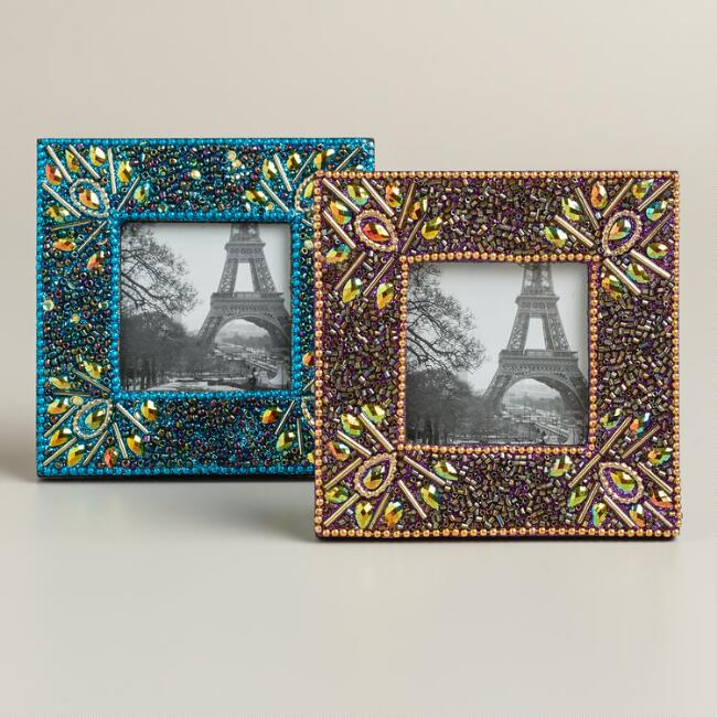 Small Peacock Lac Frames, Set of 2