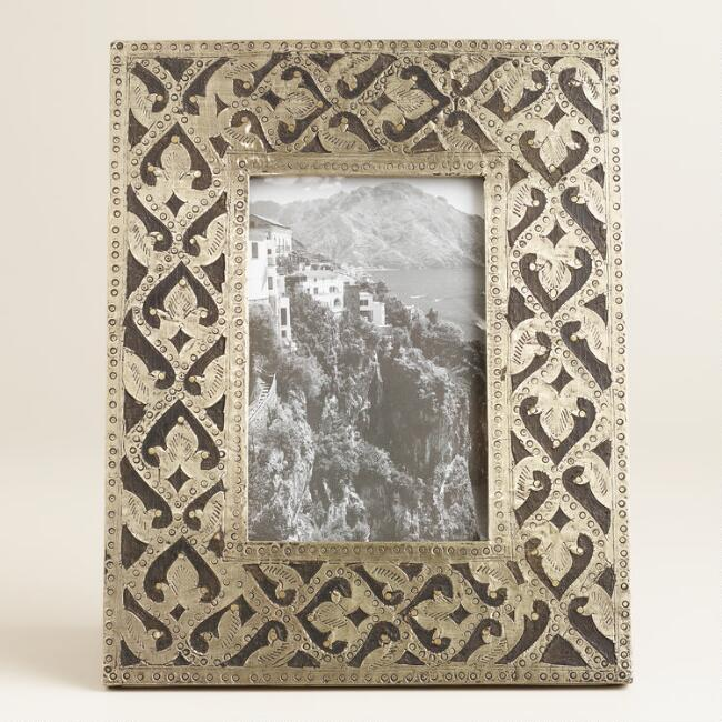 Scroll Pewter Metal Samara Frame