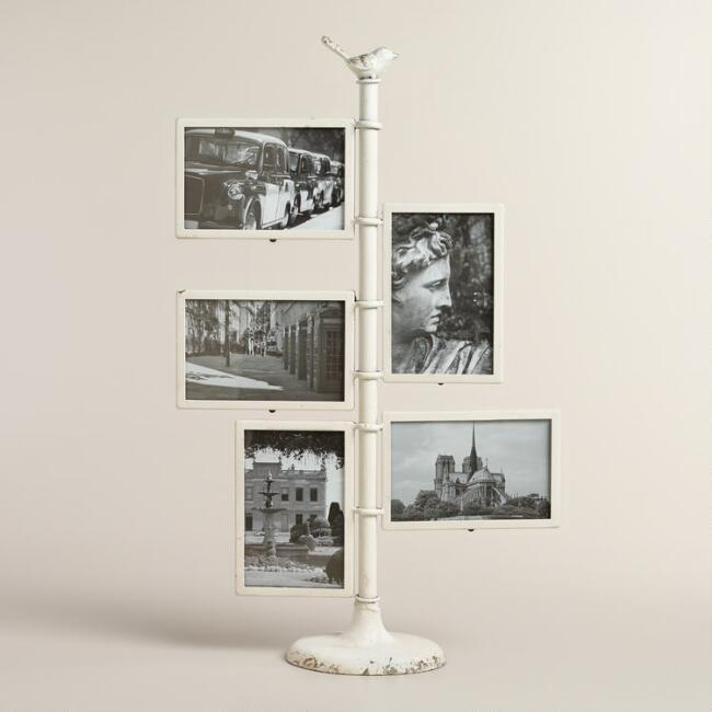 White Bird 5-Photo Pedestal Frame