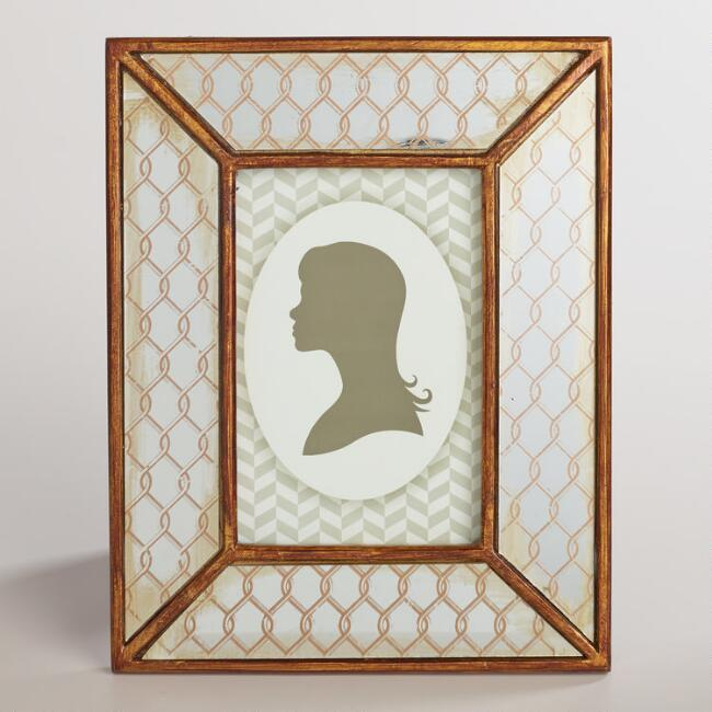 Byrdie Antiqued Mirror Frame