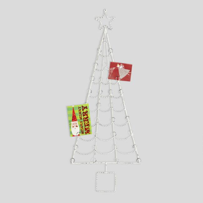 Whitewash Christmas Tree Cardholder