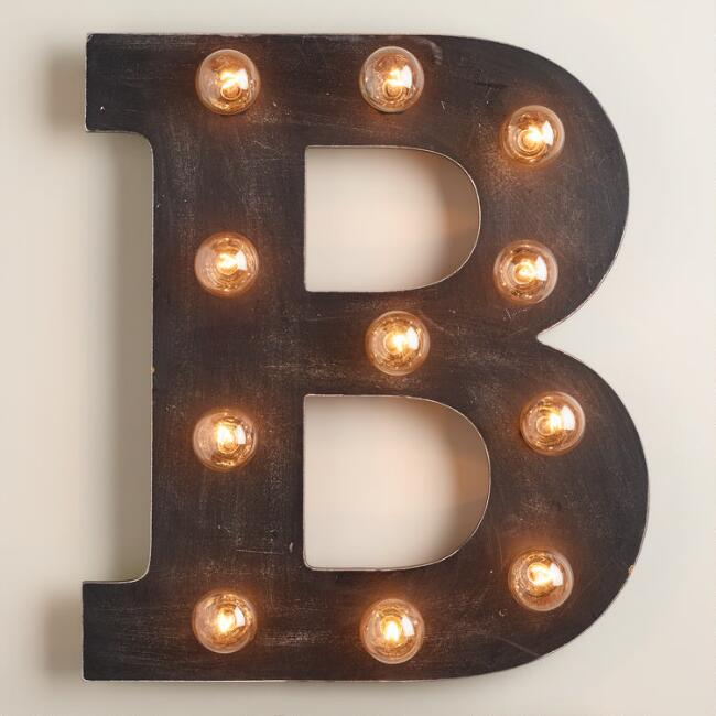 'B' Marquee Light