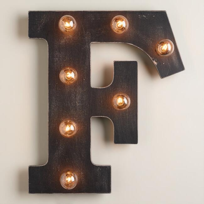 'F' Marquee Light