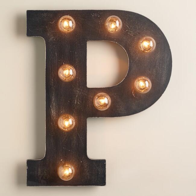 'P' Marquee Light