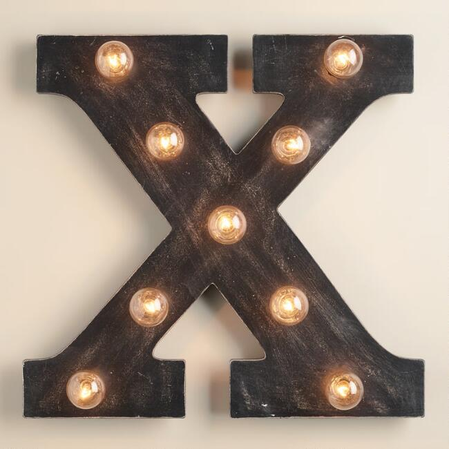 'X' Marquee Light