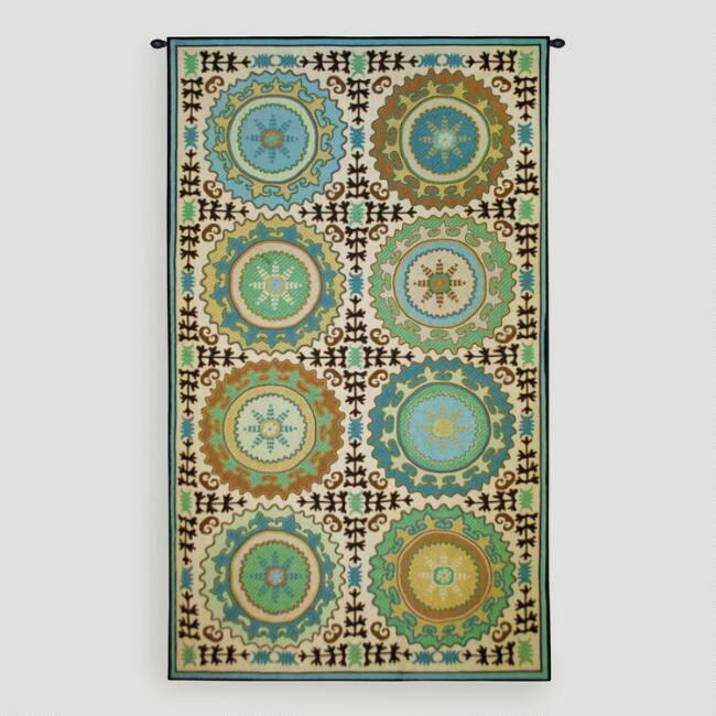 Suzani Rosettes Wall Tapestry