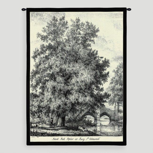Black Poplar Wall Tapestry