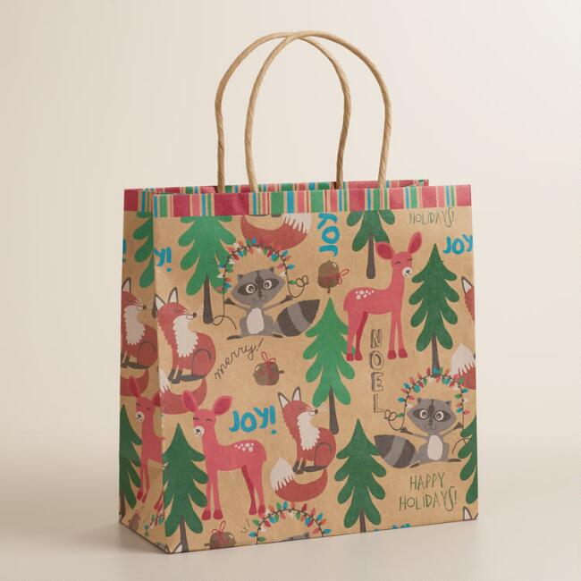 Medium Foxes and Deer Gift Bag