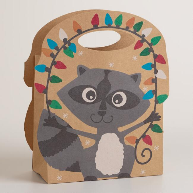 Small Foxes and Deer Raccoon Gift Bag