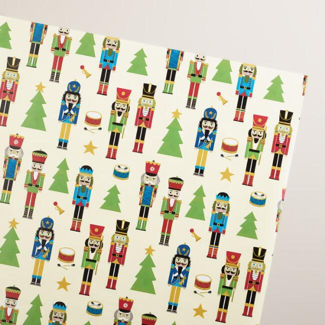Jumbo Nutcrackers Wrapping Paper Roll