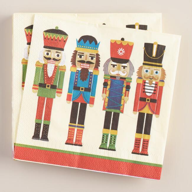 Nutcrackers Lunch Napkins, 16-Count