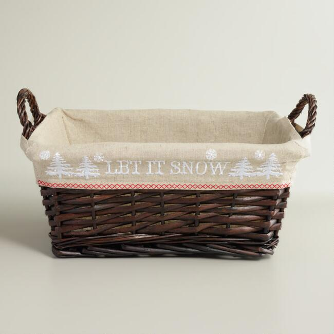 Scandi Lined Willow Basket