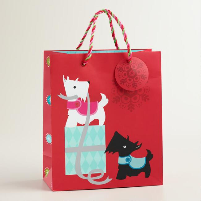Medium Scottie and Present Gift Bag