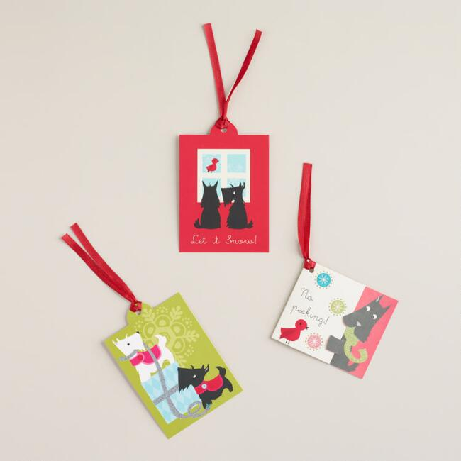 Scottie Gift Tags, 6-Pack