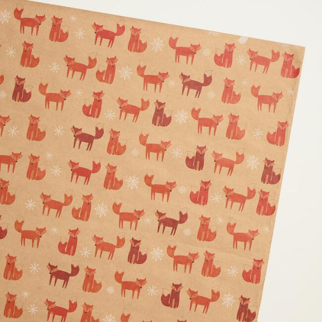 Woodland Foxes Wrapping Paper
