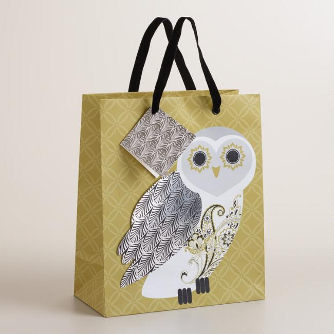 Medium Owl Winter Soiree Gift Bag