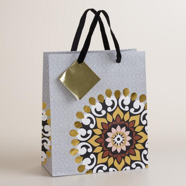 Medium Medallion Winter Soiree Gift Bag
