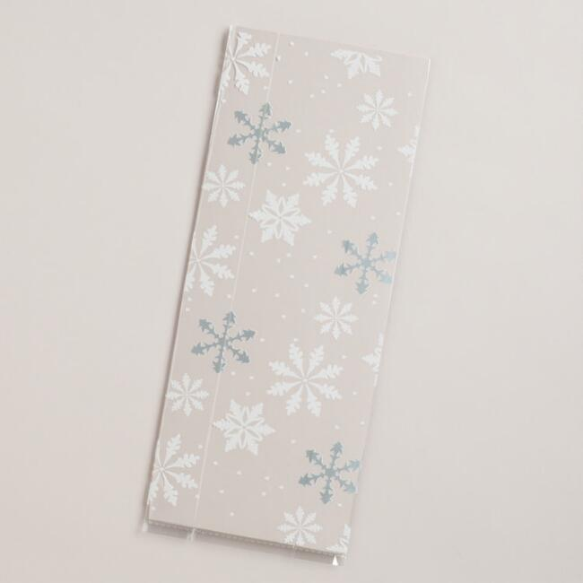 Cellophane Snowflakes Value Gift Bags, 8-Count