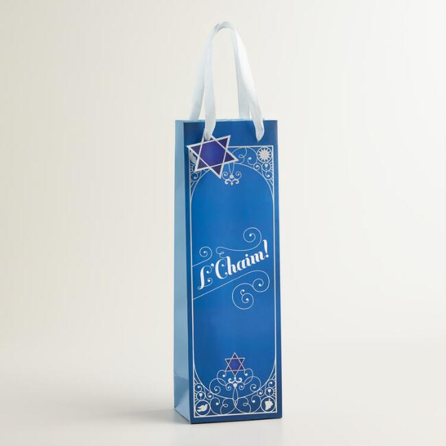 L'Chaim Hanukkah Wine Gift Bag