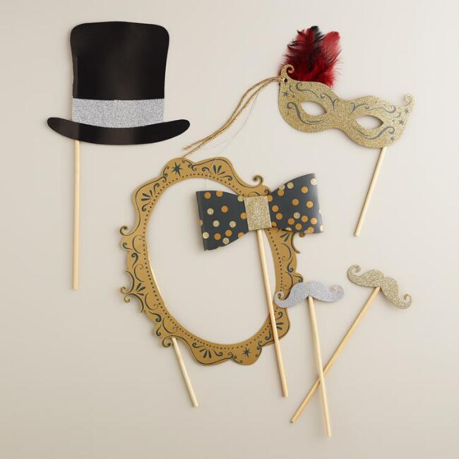 Confetti Party Photo Booth Props, 6-Piece