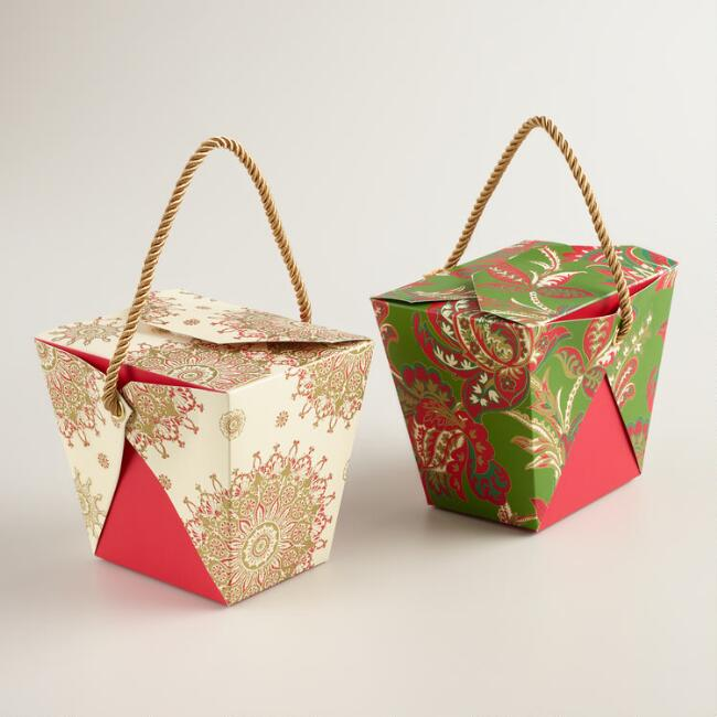 Medium Buon Natale Takeout Gift Boxes, Set of 6