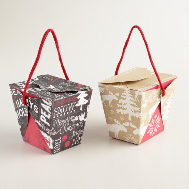 Medium Scandi Takeout Gift Boxes, Set of 6