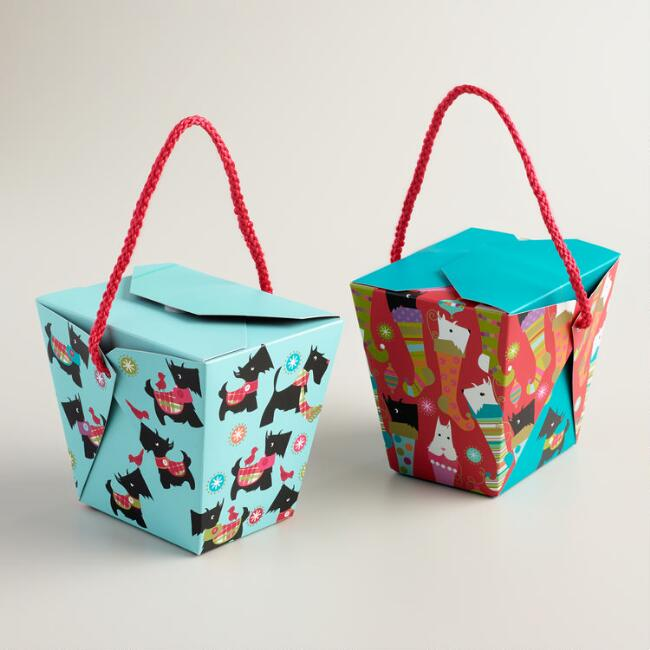 Medium Scottie Takeout Boxes - Set of 6