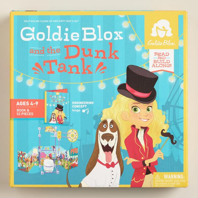 GoldieBlox and the Dunk Tank Book and Building Set