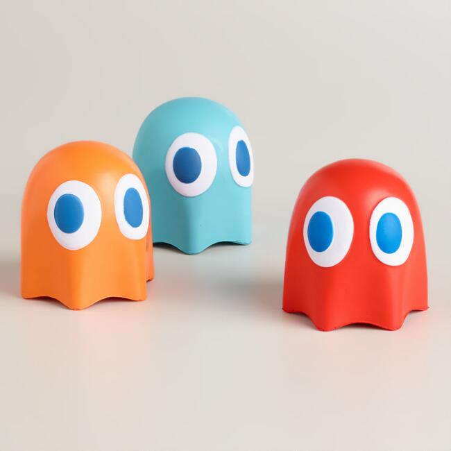 Pac-Man Ghost Stress Balls, Set of 3