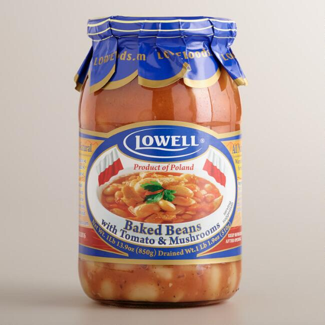 Lowell Baked Beans with Tomato and Mushroom