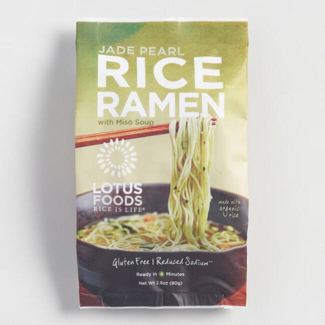 Lotus Jade Pearl Rice Ramen with Miso, Set of 10
