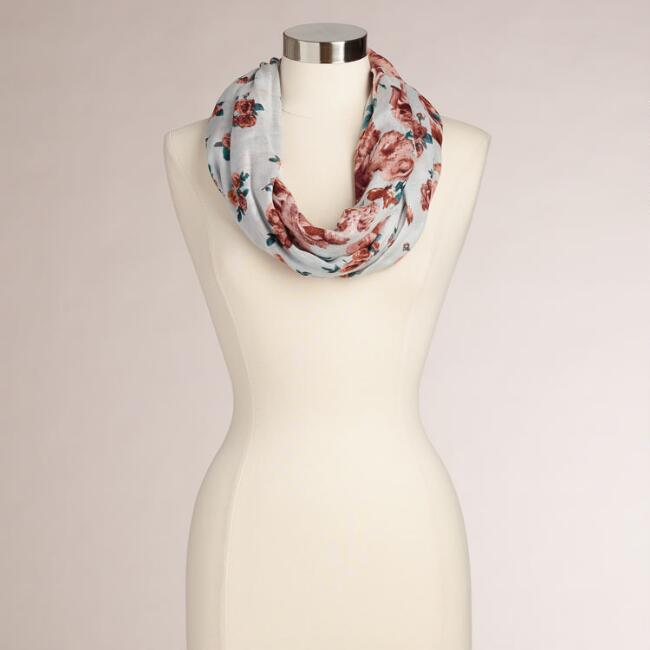 Dusty Roses Infinity Scarf
