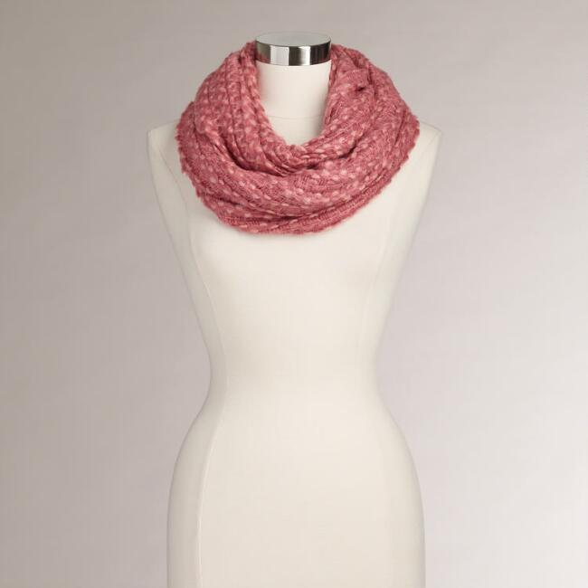 Coral Two-Tone Infinity Scarf