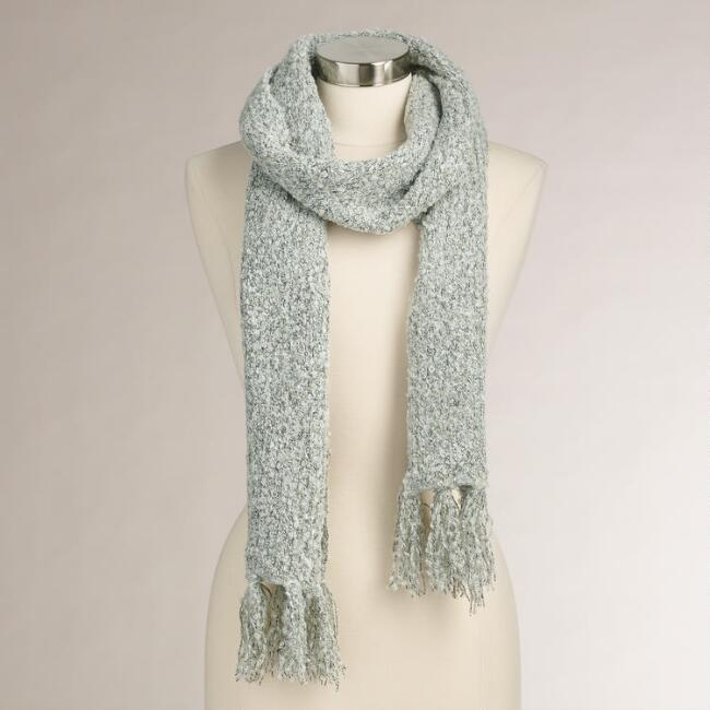 Gray Nubby Scarf