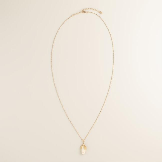 Gold and Ivory Pendant Necklace